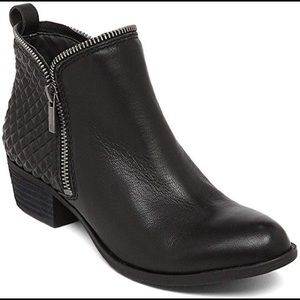 Lucky brand  Bartalino Black leather ankle boots